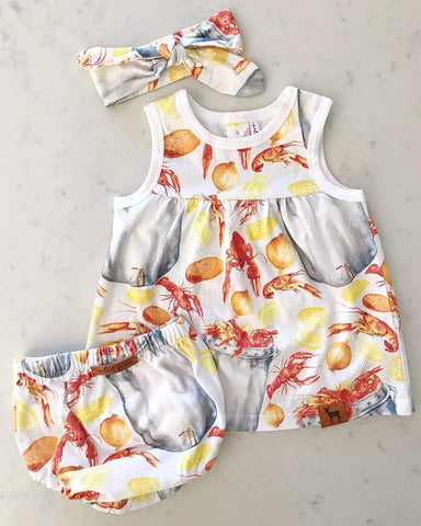 3PC DRESS SET BAYOU BABY