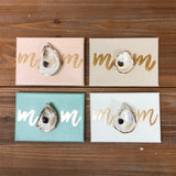 5X7 CANVAS ONE SHELL-MOM-MINT