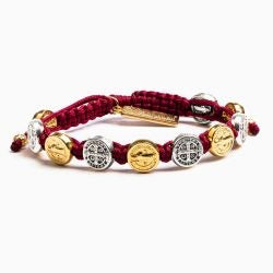 MIXED BENEDICTINE BLESSING BRACELET -MERLOT