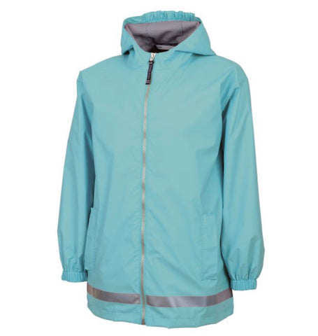 YOUTH RAIN JACKET-AQUA