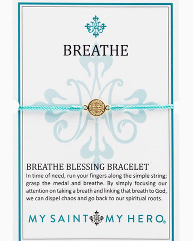 BREATHE- BRACELET -GOLD WITH MINT