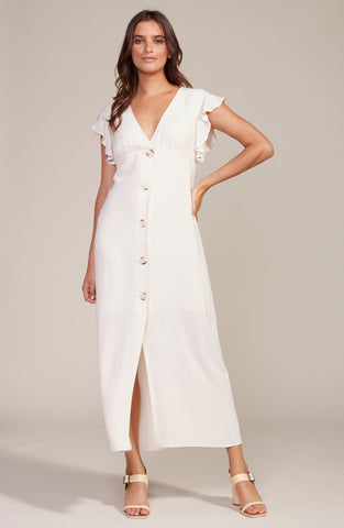 DRESS-THAT'S AMORE MIDI • EGGSHELL