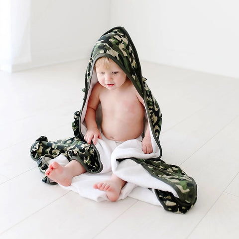 HOODED TOWEL-CADET