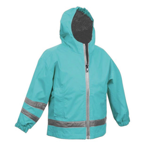 TODDLER RAIN JACKET-AQUA