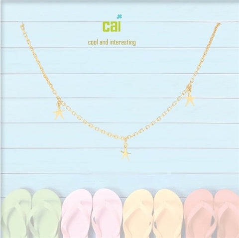 ANKLET-DAINTY/DANGLE GOLD SEA STAR