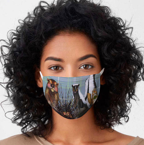 FACE MASK-WOODLAND CREW ON PLAID