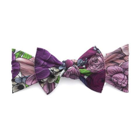 PRINTED HEADBAND-FLORAL LILAC