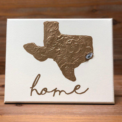8X10 CANVAS TEXAS-HOME GOLD/CREAM