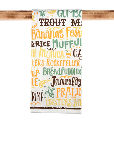 KITCHEN TOWEL: FOOD WORD