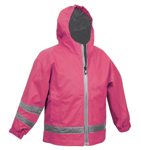 TODDLER RAIN JACKET-HOT PINK