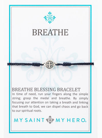 BREATHE- BRACELET -SILVER WITH NAVY