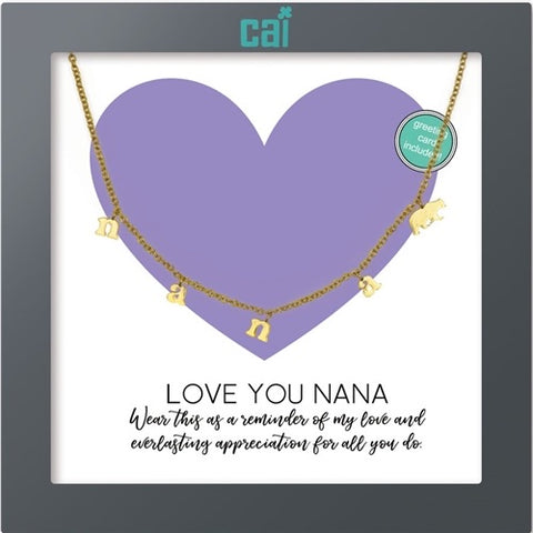 NECKLACE-DAINTY/DANGLE GOLD NANA