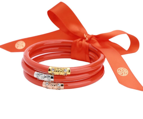 BUDHAGIRL BANGLE-SET/3 CORAL