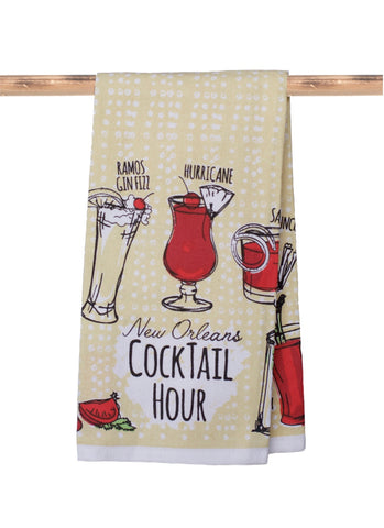 KITCHEN TOWEL: NEW ORLEANS COCKTAIL HOUR