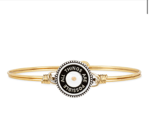 ALL THINGS POSSIBLE BRASS BANGLE