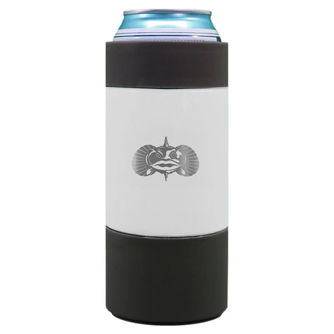 TOADFISH-NON TIPPING SLIM CAN COOLER -WHITE