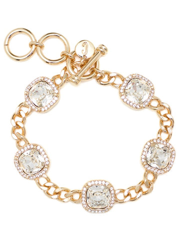 "PAVE LUXE BRACELET GOLD 7"",7 1/2"",8"""