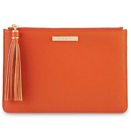 TASSEL POUCH-BURNT ORANGE