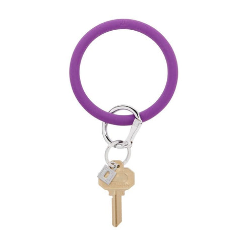 BIG O KEY RING-SILICONE-DEEP PURPLE