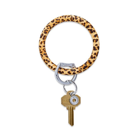 BIG O KEY RING-SILICONE-CHEETAH