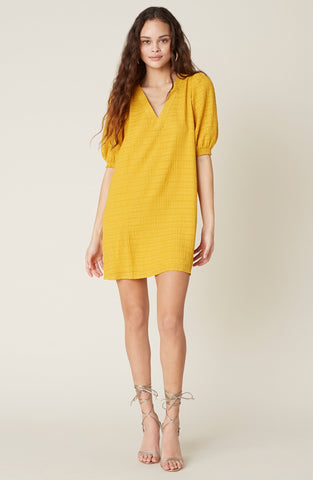 DRESS-FIELDS OF GOLD SHIFT DRESS • SUNNY YELLOW