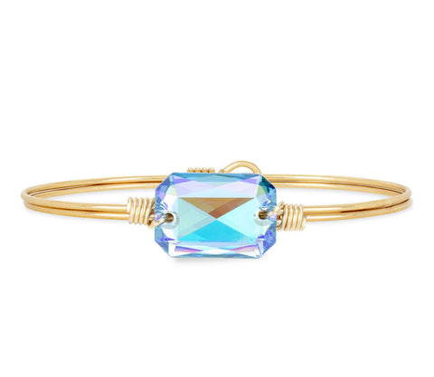 DYLAN ARCTIC BLUE BRASS BANGLE