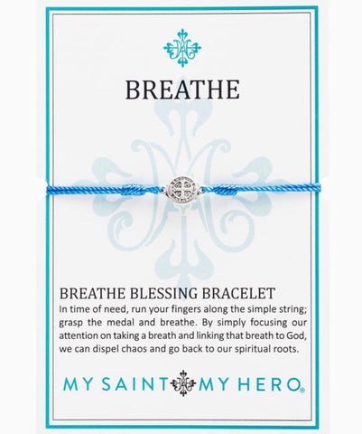 BREATHE- BRACELET -SILVER WITH BLUE