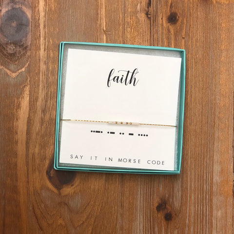 DOT & DASH BRACELET-FAITH