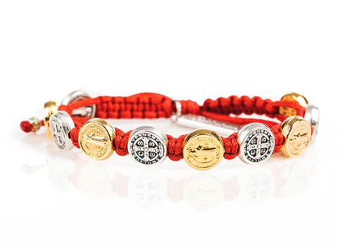 MIXED BENEDICTINE BLESSING BRACELET -PERSIMMON