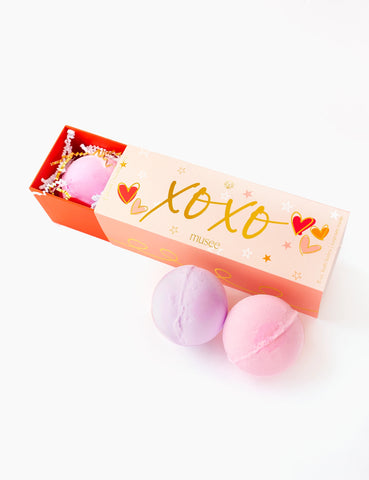 BATH BOMBS-XOXO 3 BATH SET