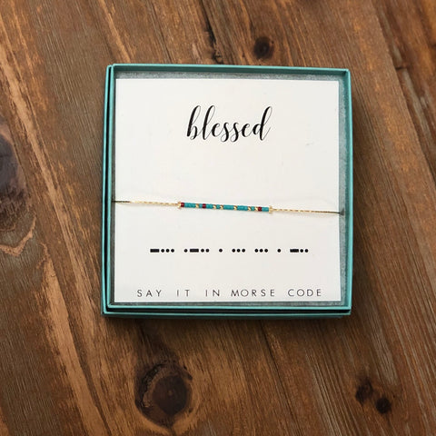 DOT & DASH BRACELET-BLESSED