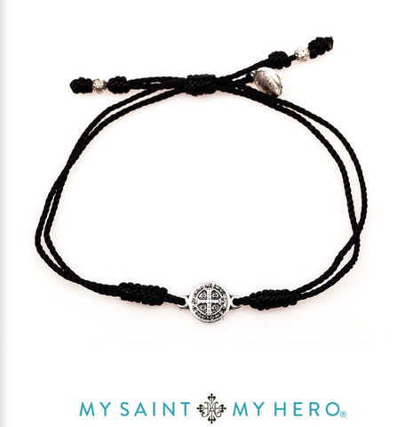 BREATHE-BRACELET -SILVER WITH BLACK