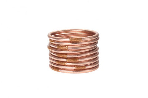 BUDHA GIRL BANGLES-SET OF 3-ROSE GOLD