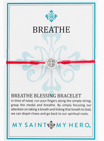 BREATHE- BRACELET -SILVER WITH RED