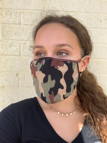 FACE MASK-COTTON JERSEY CAMO