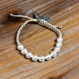 RADIANT PEARL BRACELET-CREAM/WHITE PEARLS/SILVER