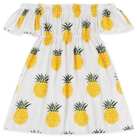 PINEAPPLE OFF THE SHOULDER DRESS