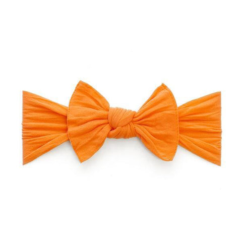 KNOT SOLID HEADBAND-ORANGE