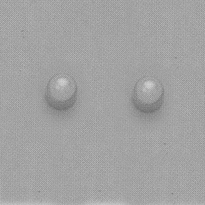 SINGLE SILVER PEARL EAR PIERCING STUD 3MM, FOR SENSITVE EARS. SURGICAL STAINLESS STEEL. NICKEL & ALLERGY FREE.