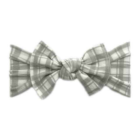 PRINTED HEADBAND-GREY WINDOW PLAID