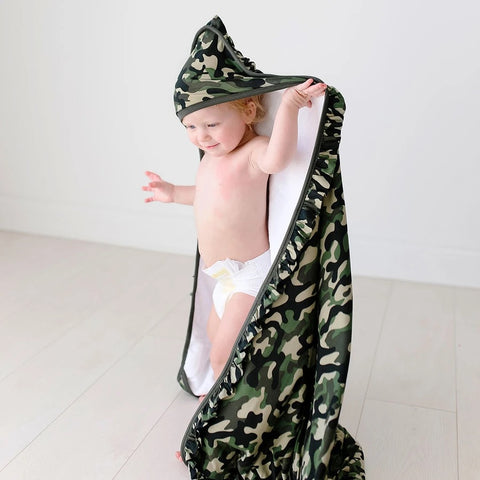 HOODED TOWEL-CADET RUFFLED