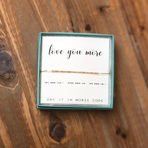 DOT & DASH BRACELET-LOVE YOU MORE