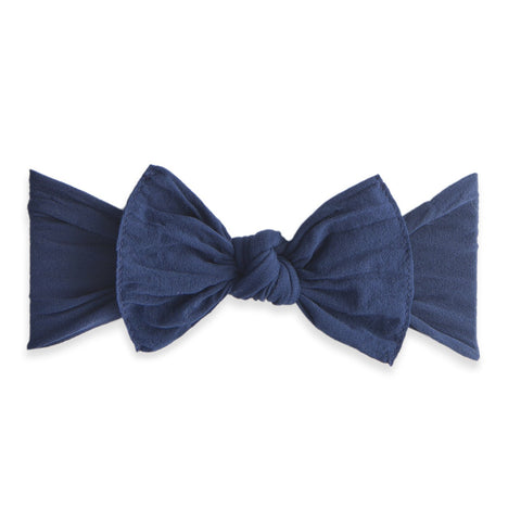 KNOT SOLID HEADBAND-NAVY