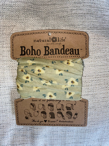 Sage Cream Flower Boho Bandeau®