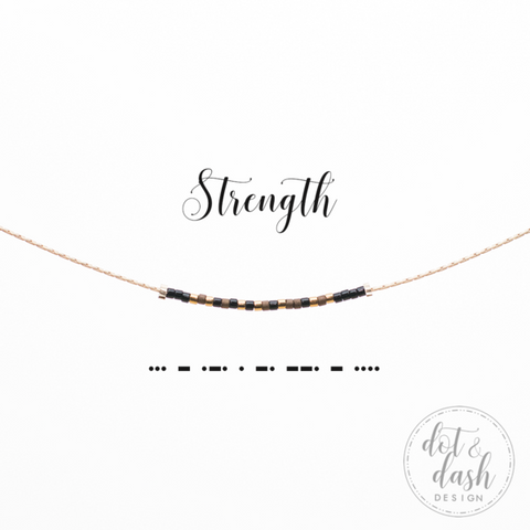 DOT & DASH-NECKLACE STRENGTH