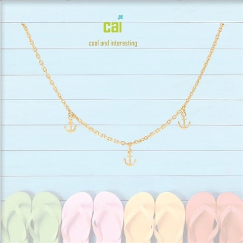 ANKLET-DAINTY/DANGLE GOLD ANCHOR