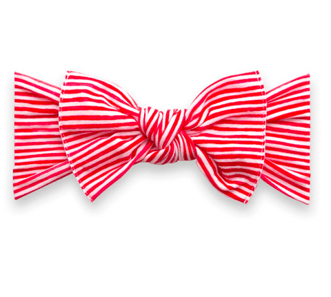 PRINTED HEADBAND-RED PAINTED STRIPE