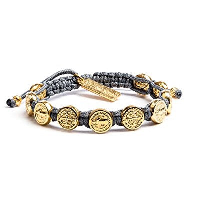GOLD BENEDICTINE BLESSING BRACELET -SLATE