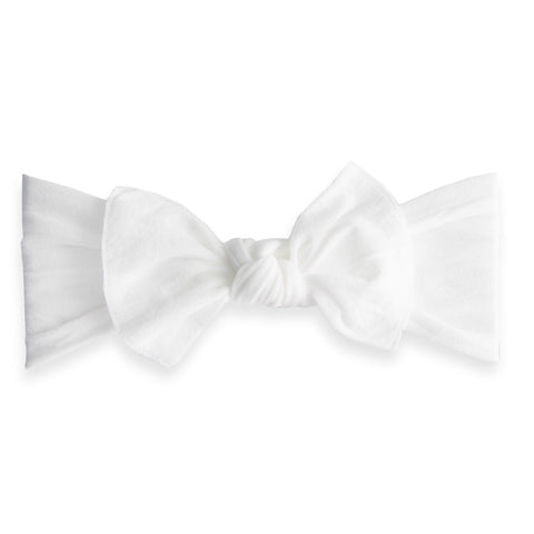 KNOT SOLID HEADBAND-WHITE