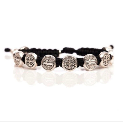 CONFIRMATION  BRACELET BLACK/SILVER